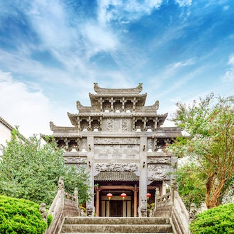 Chinese ancient architecture and archway