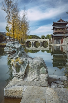 Chinese ancient stone arch bridges and stone carvings