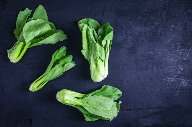 Chinese cabbage on black background
