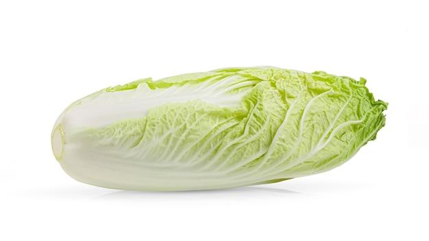白い表面に分離された白菜