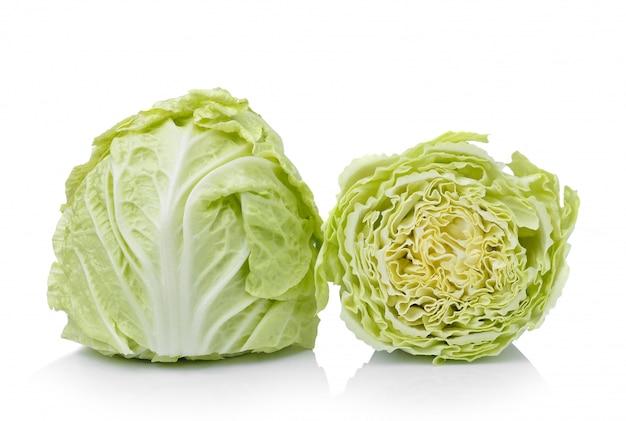 白で隔離される白菜