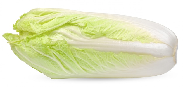 Chinese cabbage isolated on white clipping path