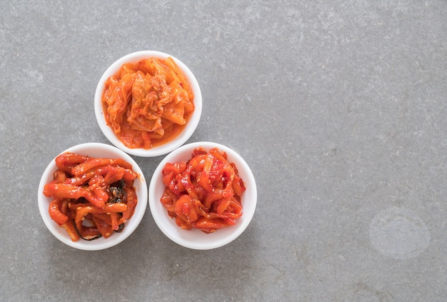 배추, 오징어, 무김치 무료 사진