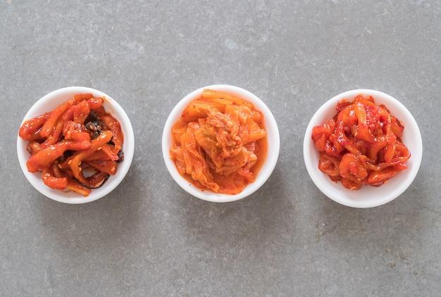 Chinese cabbage, squid and radish kimchi