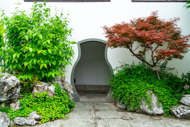 Chinese classical garden wall
