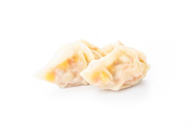 Chinese corn dumplings on white