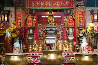 Chinese decorated temple