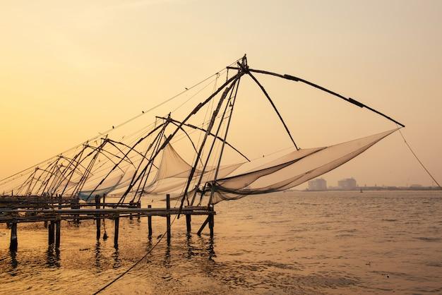 高知砦の中国の漁網