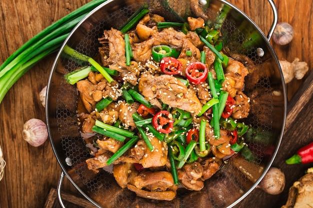 中華料理ドライポットチキン
