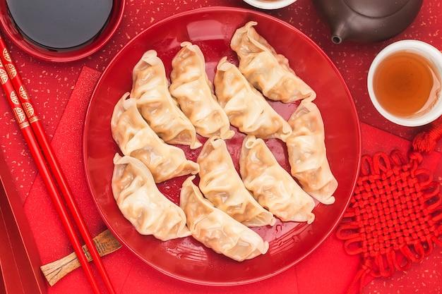 중국 음식 : 전통 중국 휴일을위한 만두