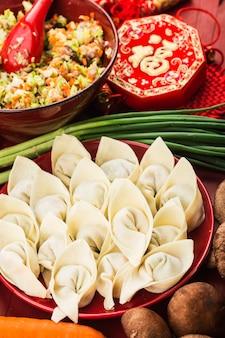 Cibo cinese: gnocchi per le feste tradizionali cinesi