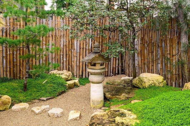 중국정원. 멋진 식물의 세계. 식물원. 선.