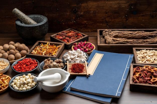 Китайские лечебные травы и рецепты на столе