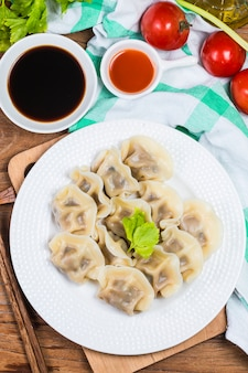Chinese jiaozi new year food