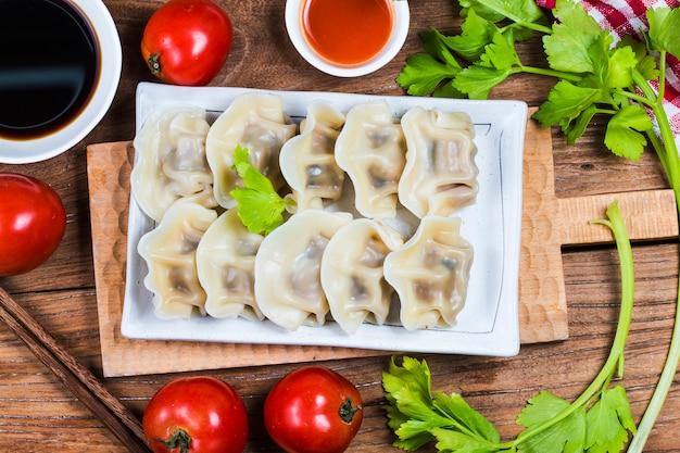 중국 jiaozi 새해 음식