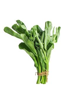 Китайская капуста овощ на белом фоне.