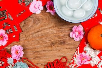 Chinese Lantern Festival food