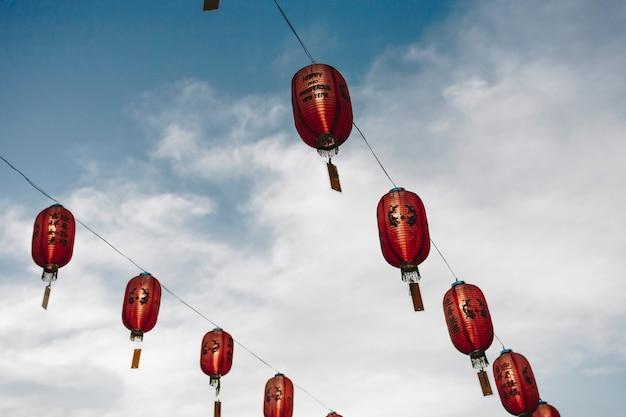 Китайские фонари в небе