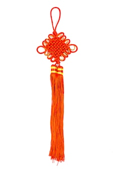 중국 럭키 매듭 화이트에 격리입니다.