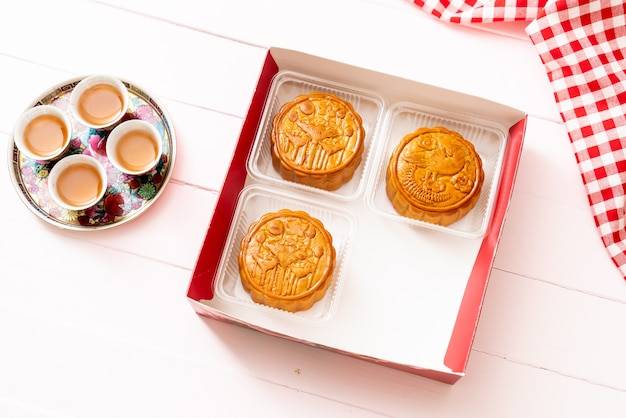 Chinese moon cake for chinese mid autumn festival