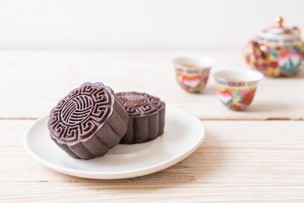 중추절을위한 중국 월병 다크 초콜릿 맛