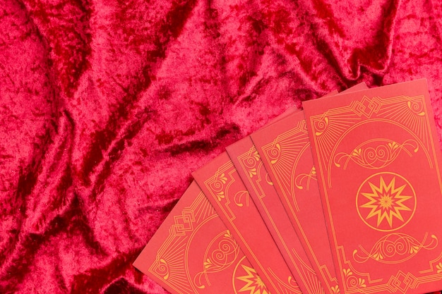 Chinese new year cards on velvet