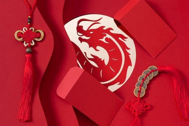 Концепция китайского нового года в изометрическом стиле