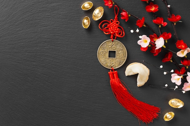コピースペースと中国の旧正月のコンセプト