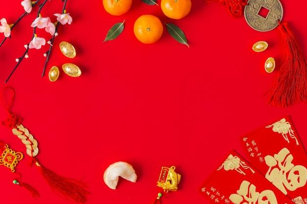 Concetto cinese del nuovo anno con lo spazio della copia