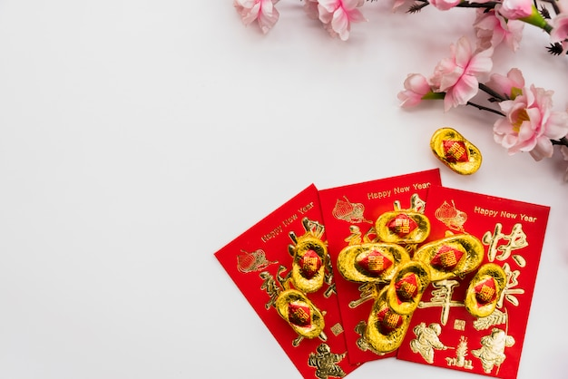 Chinese new year concept with copyspace