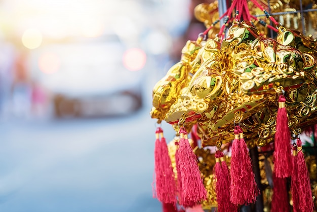 Chinese new year festival decorations.