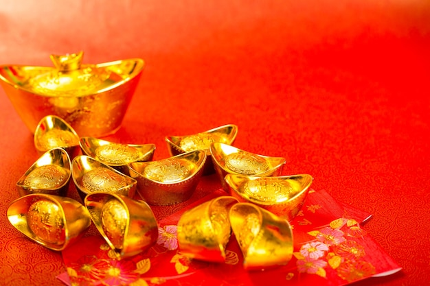 Китайский новый год золотые деньги украшение