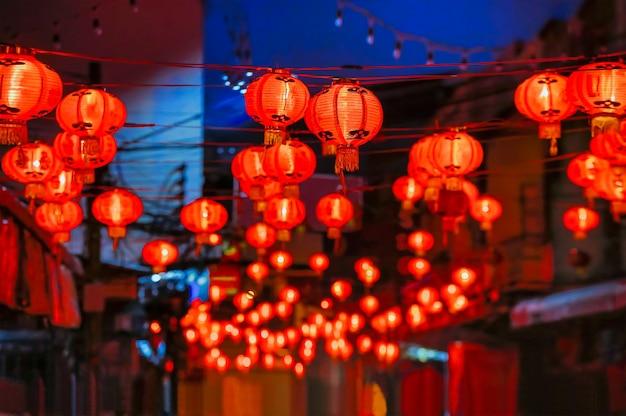 チャイナタウンの旧正月灯籠。