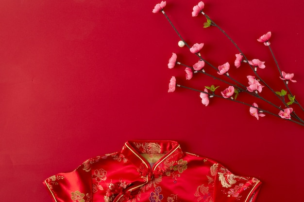 Chinese new year red background.