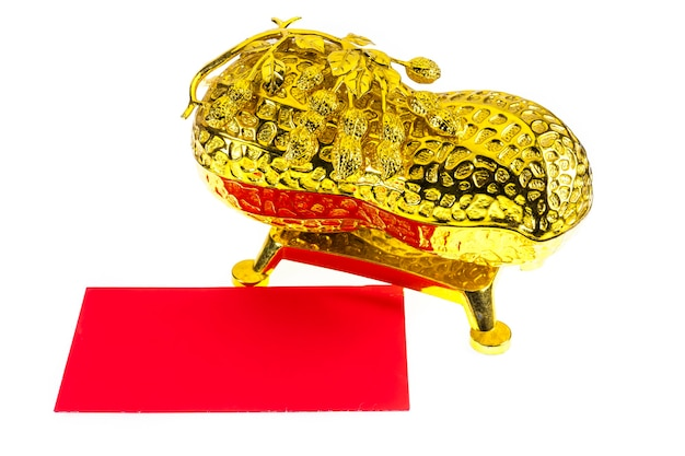 Chinese new year  red envelope and ornament, bucket of gold