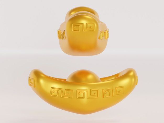 Chinese new year with cute translation wish you good fortune on the coming year 3d rendering