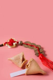 Capodanno cinese con biscotti della fortuna