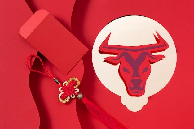 Китайский новый год с концепцией быка