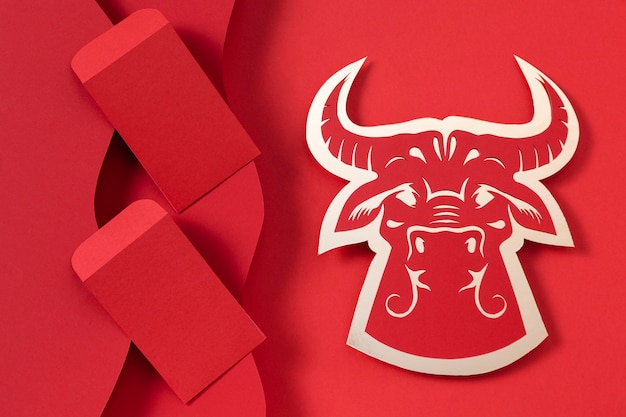 Chinese new year with ox concept