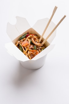 Chinese noodles on isolated