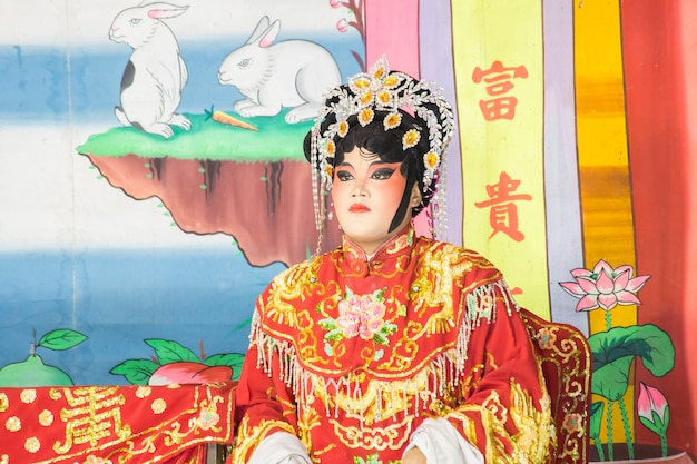 Chinese opera actor performs