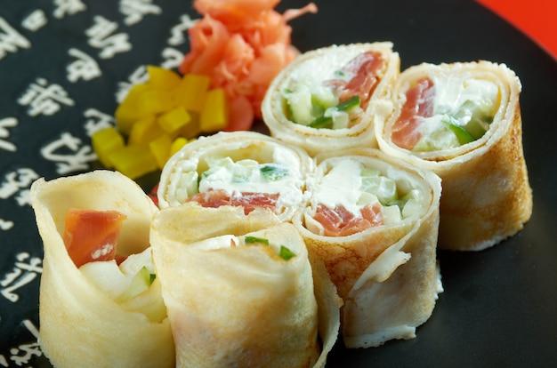 중국식 또는 태국식 야채 춘권