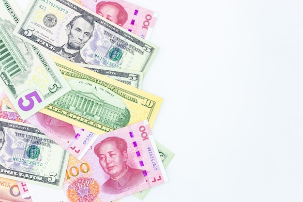 Chinese paper currency yuan renminbi bill banknotes