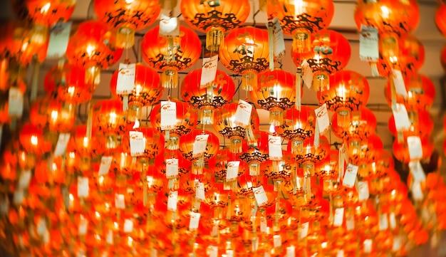 Китайский бумажный фонарь крупным планом