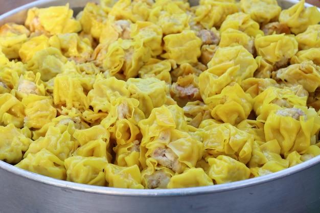 Chinese pork steamed dumplings