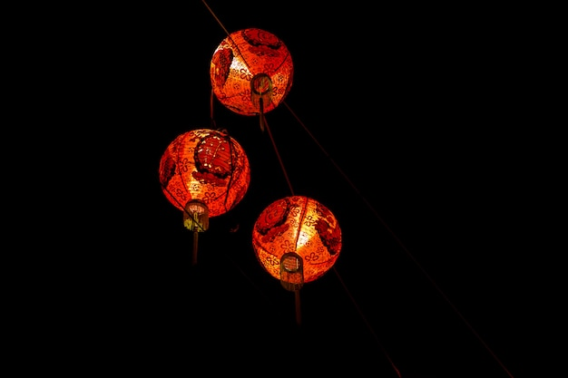 Chinese red lantern decorate for chinese new year,