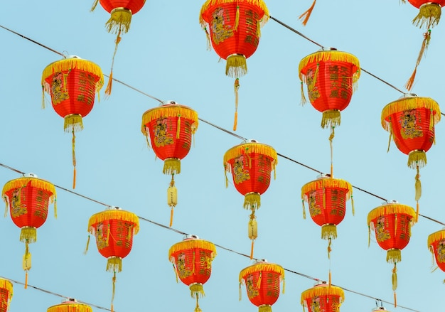 Chinese red lantern decoration for chinese new year festival
