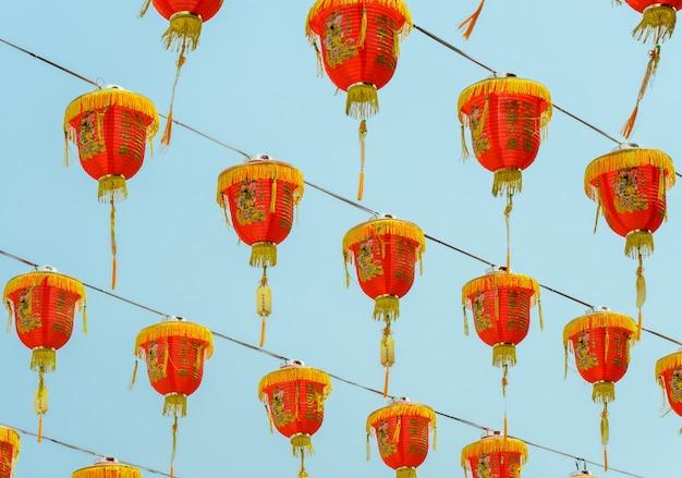 中国の旧正月祭りのための中国の赤い提灯の装飾