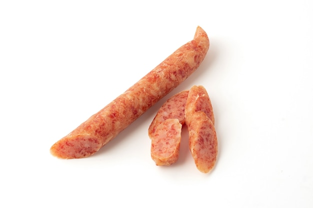 Chinese sausage isolated on a white background