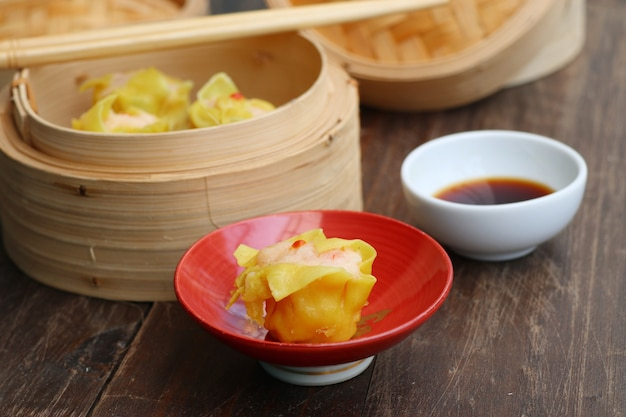 Chinese shrimp steamed dumplings